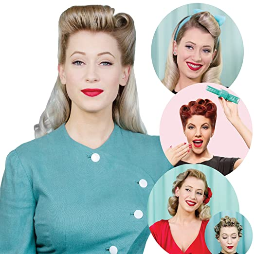 1940s Hairstyles- History of Women's Hairstyles Roll & Go Hair Tool $23.95 AT vintagedancer.com