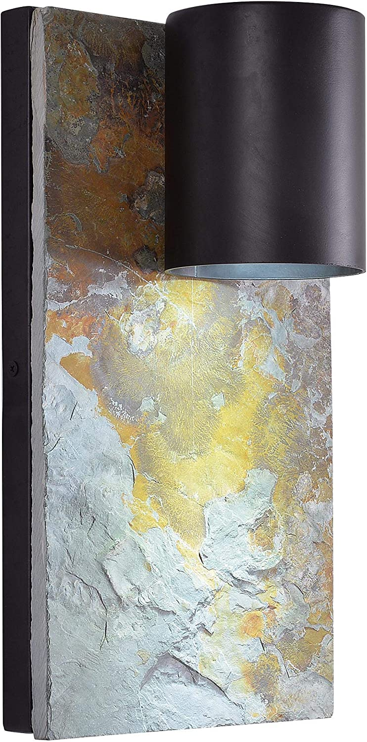 Kenroy Home 93582ORB Frederick Contemporary Dark Sky Outdoor Wall Light, Oil Rubbed Bronze Finish