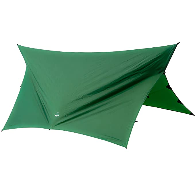 Go Outfitters Apex Camping Shelter/Hammock Tarp, Forest Green