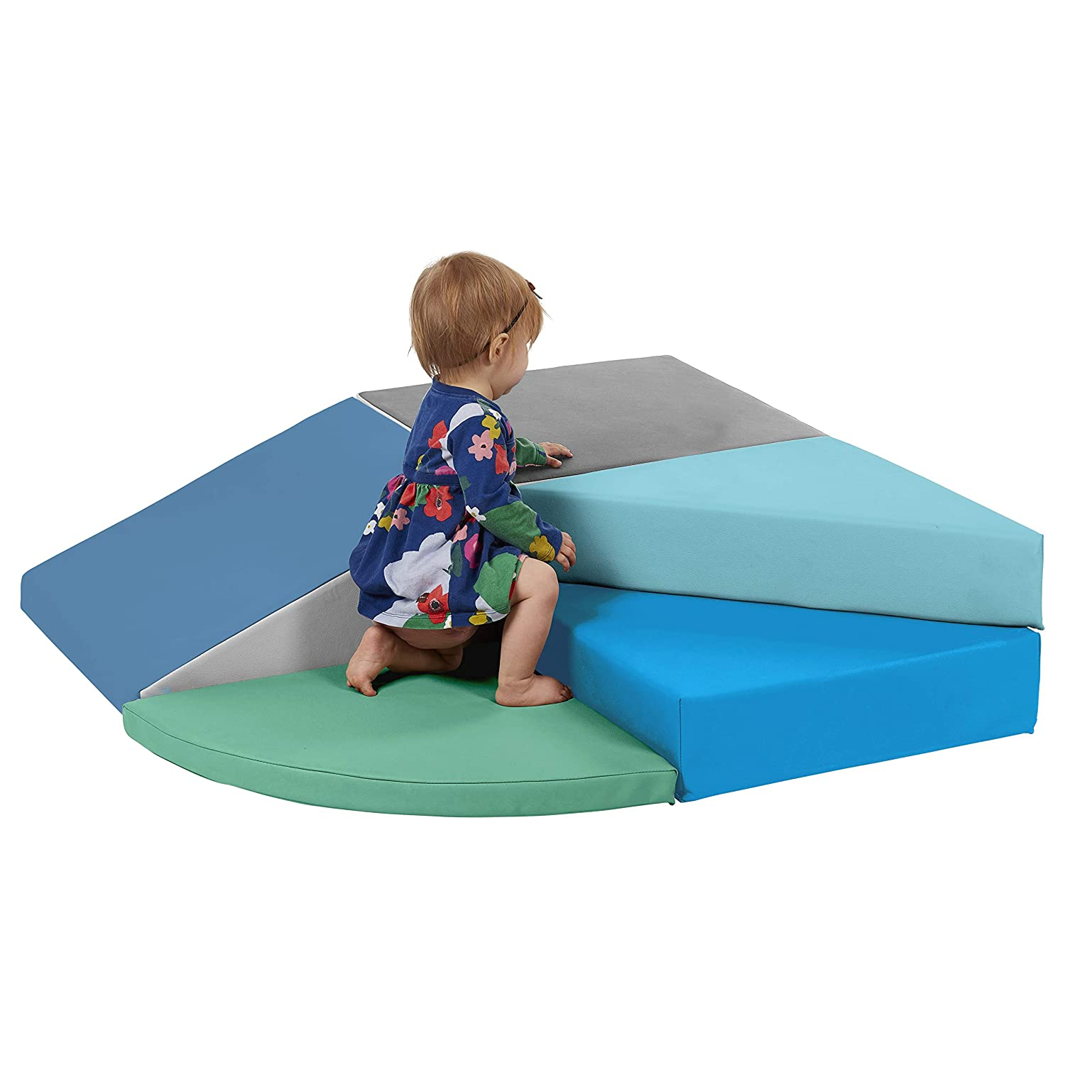 Soft Foam Play Set ECR4Kids SoftZone Tiny Twisting Foam Corner Climber Indoor Active Play Structure for Toddlers and Kids Primary ELR-12669