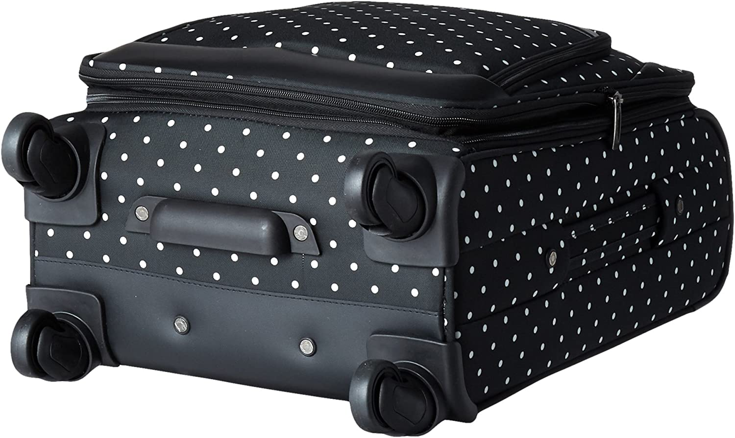 Kenneth Cole Reaction Dot Matrix 20 Lightweight Expandable 4-Wheel Spinner Carry-On Luggage Black