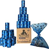 Nomad Pets Dog Poop Bags - 360 Large Unscented Earth Friendly Disposable Poo Pouches - Fits Dispensers! Bulk Set of 24 Refill Rolls - Great For All Waste!