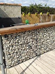 gabion pour pierres 100x50x30 cm gabions m talliques d co. Black Bedroom Furniture Sets. Home Design Ideas