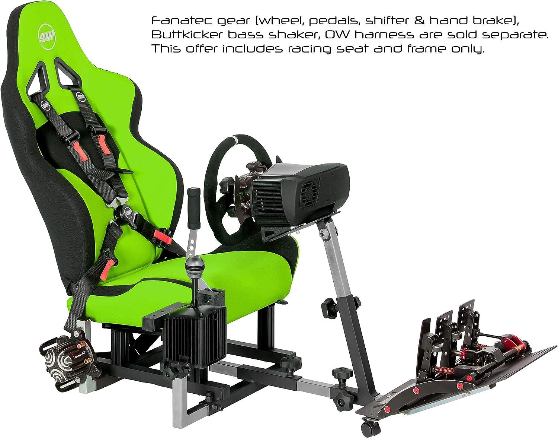 5fda6cd3dca Amazon.com: Openwheeler GEN2 Racing Wheel Stand Cockpit Green on Black   Fits  All Logitech G29   G920   All Thrustmaster   All Fanatec Wheels    Compatible ...