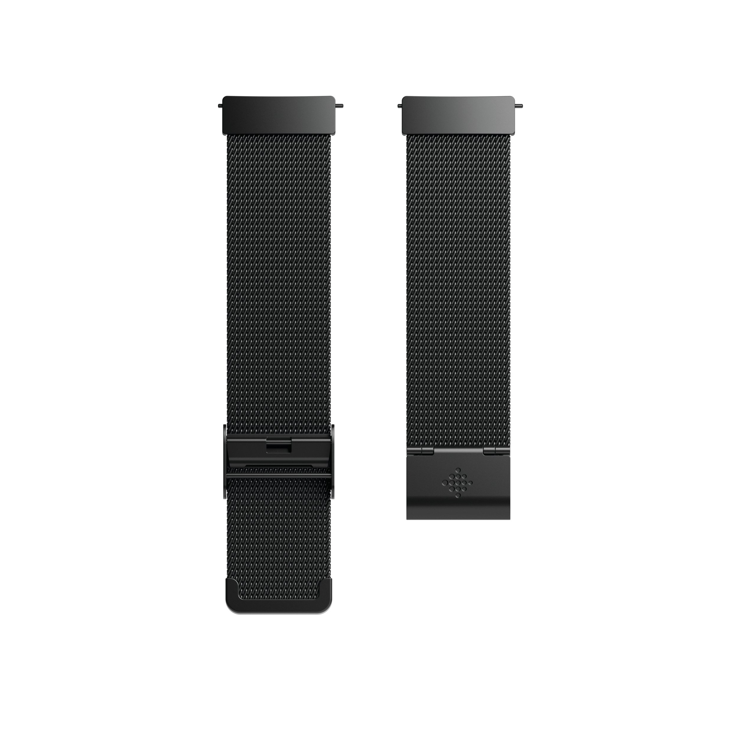 Fitbit Versa Metal Mesh Stainless Steel Accessory Band, Black, Standard