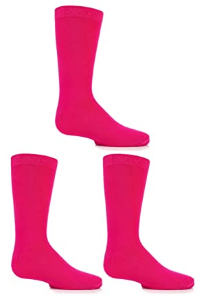 5a603db0b33 Boys and Girls 3 Pair SockShop Plain Bamboo Socks with Comfort Cuff and  Handlinked Toes  Amazon.co.uk  Clothing