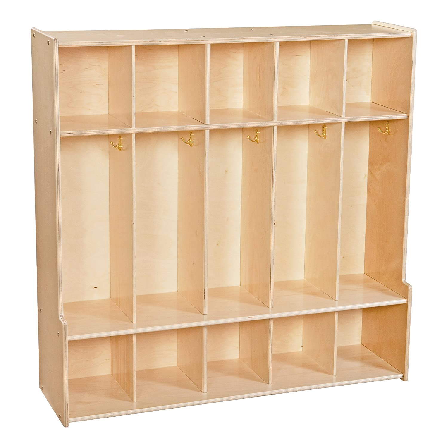 Unassembled Sprogs Wooden Five-Section Locker Unit with Seat SPG-4185