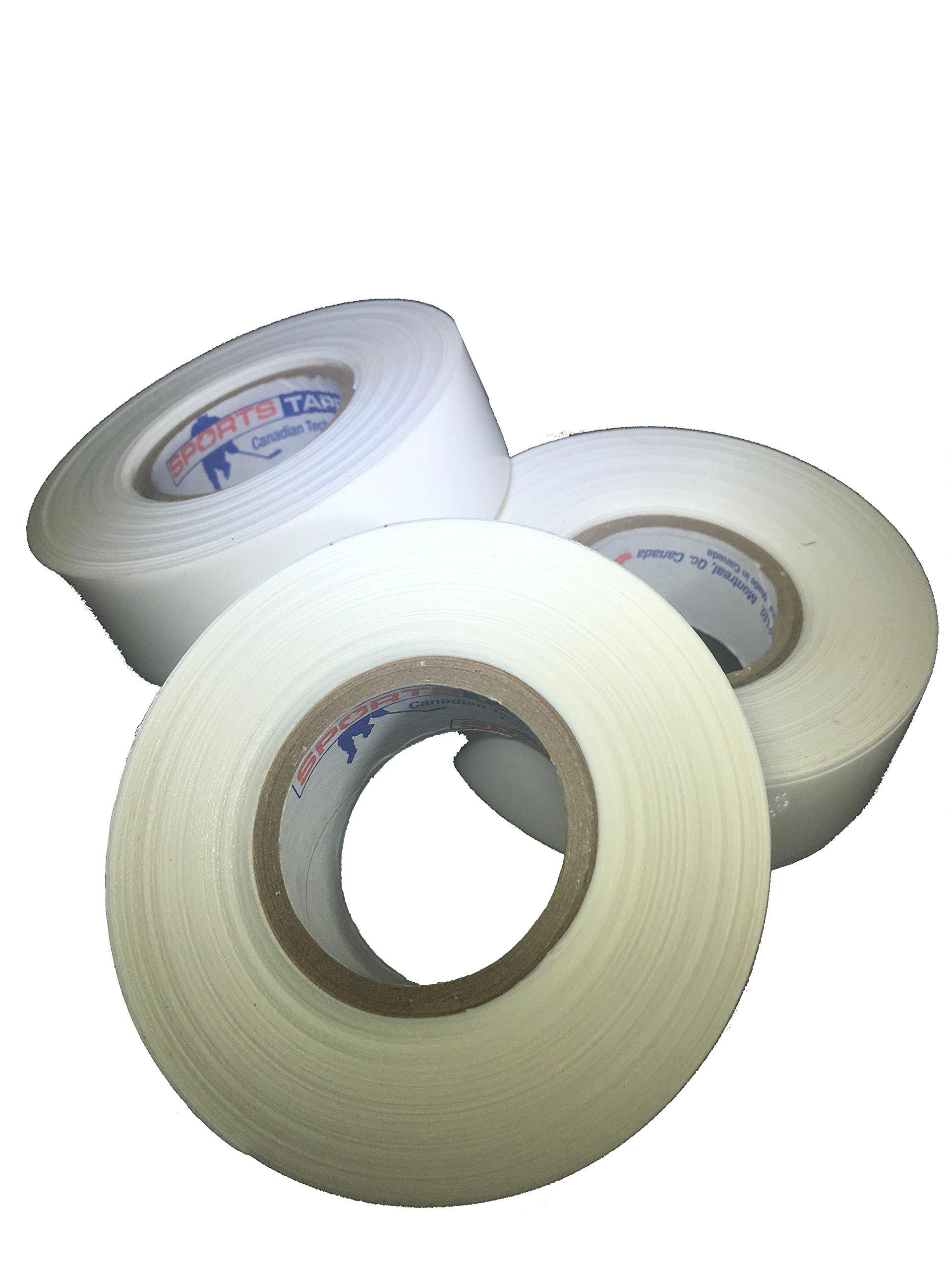 Sports Tape 3 Pack Hockey Shin Guard and Soccer Shin Guard Tape Sock Tape (White)