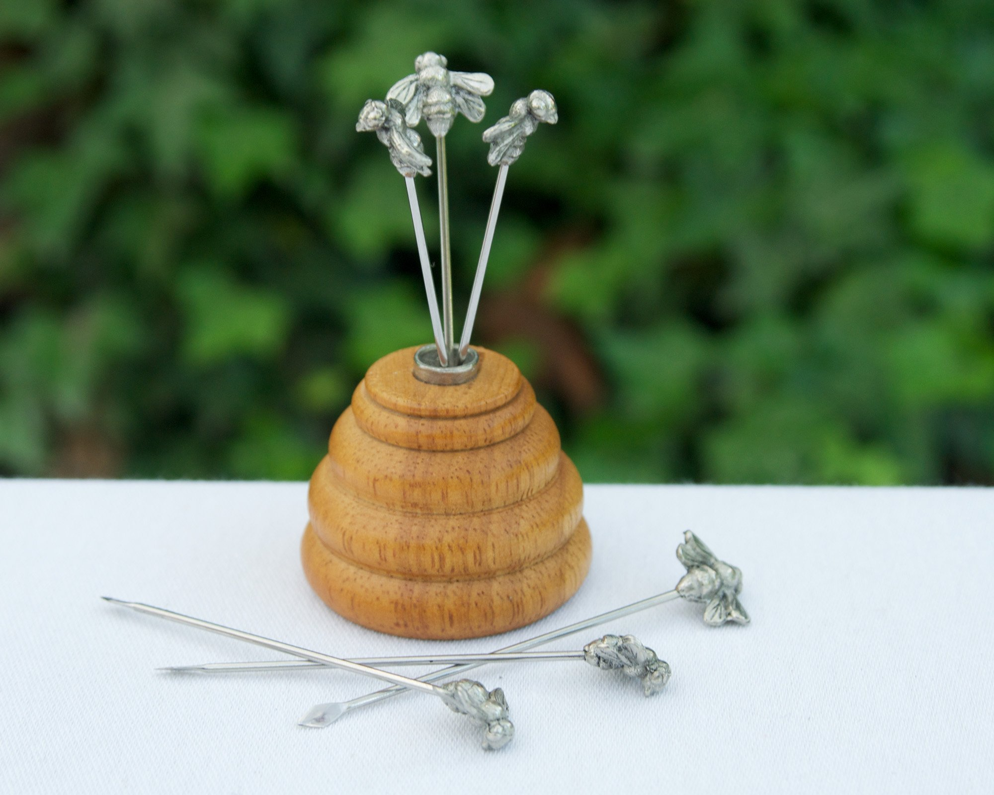 Vagabond House Hive of Bees Cheese Pick Set 3.5'' Tall (6 picks in set)