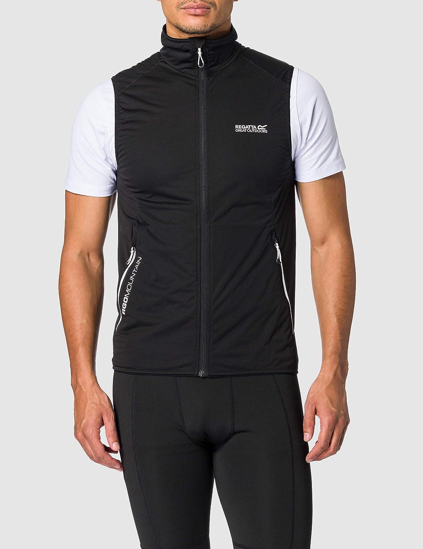 Scaldamuscoli Uomo Regatta S Lankin III Lightweight Softshell Xpt Strech Fabric Waterproof Windproof Water Repellent Jacket Nero REGLC