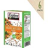 Explore Cuisine Pasta - Red Lentil Penne - Pack of 6 Boxes
