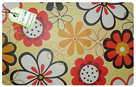 LOOMANTHA miles to go. Multicolor Printed PVC Pack of 6 Table Placemat