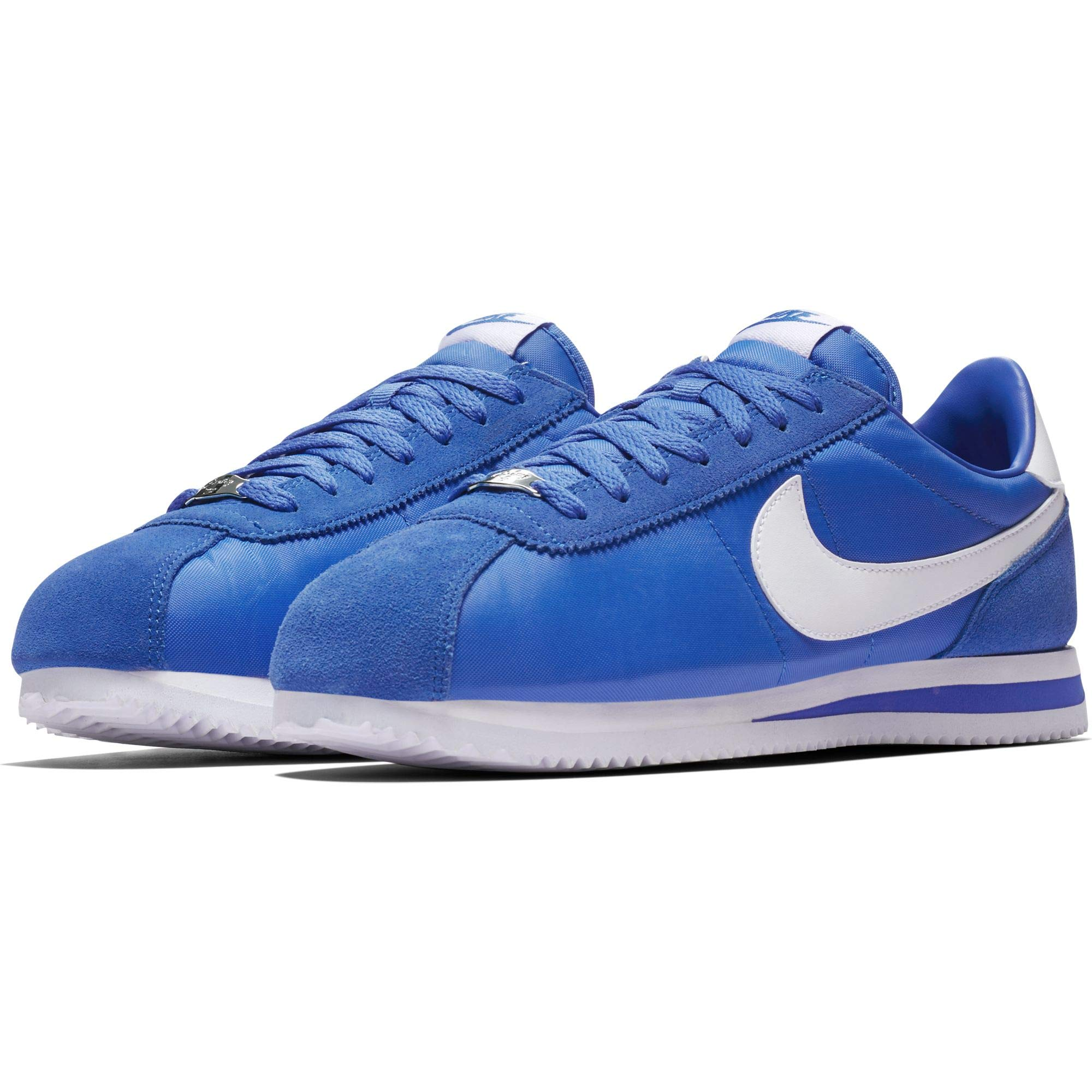 newest c485b 7a606 Galleon - Nike Cortez Basic Nylon Mens Fashion-Sneakers (Signal Blue White,  9 D(M) US)