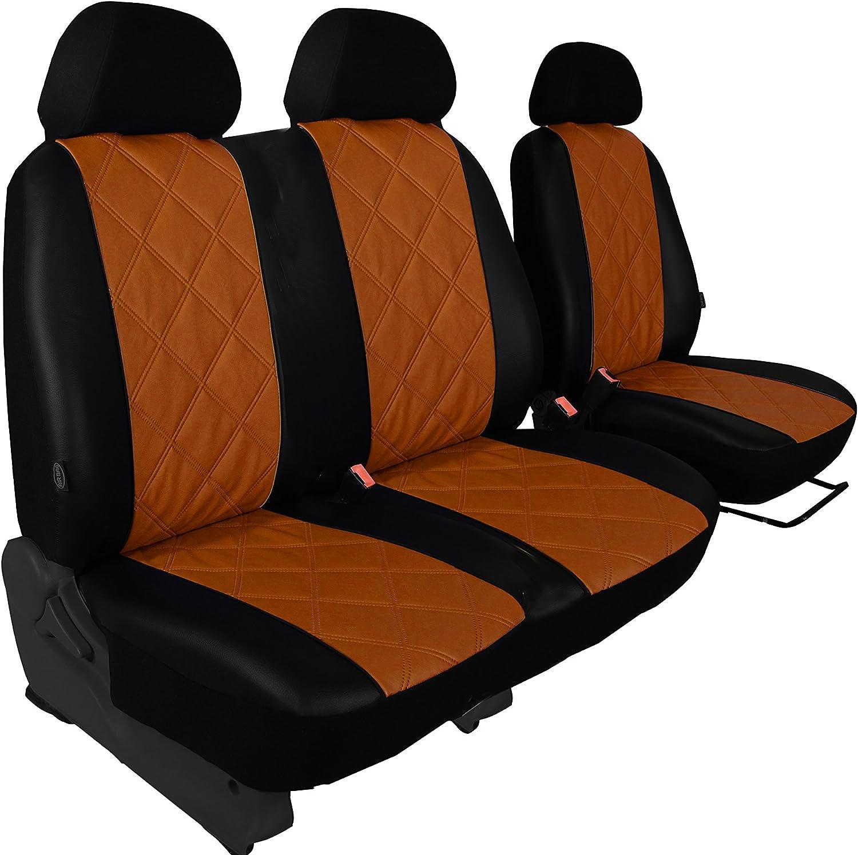 Design Kunstleder Diagonal-Gesteppt. POK-TER-BUS Ma/ßgefertigte Autositzbez/üge Vito W447 1+2 Beige