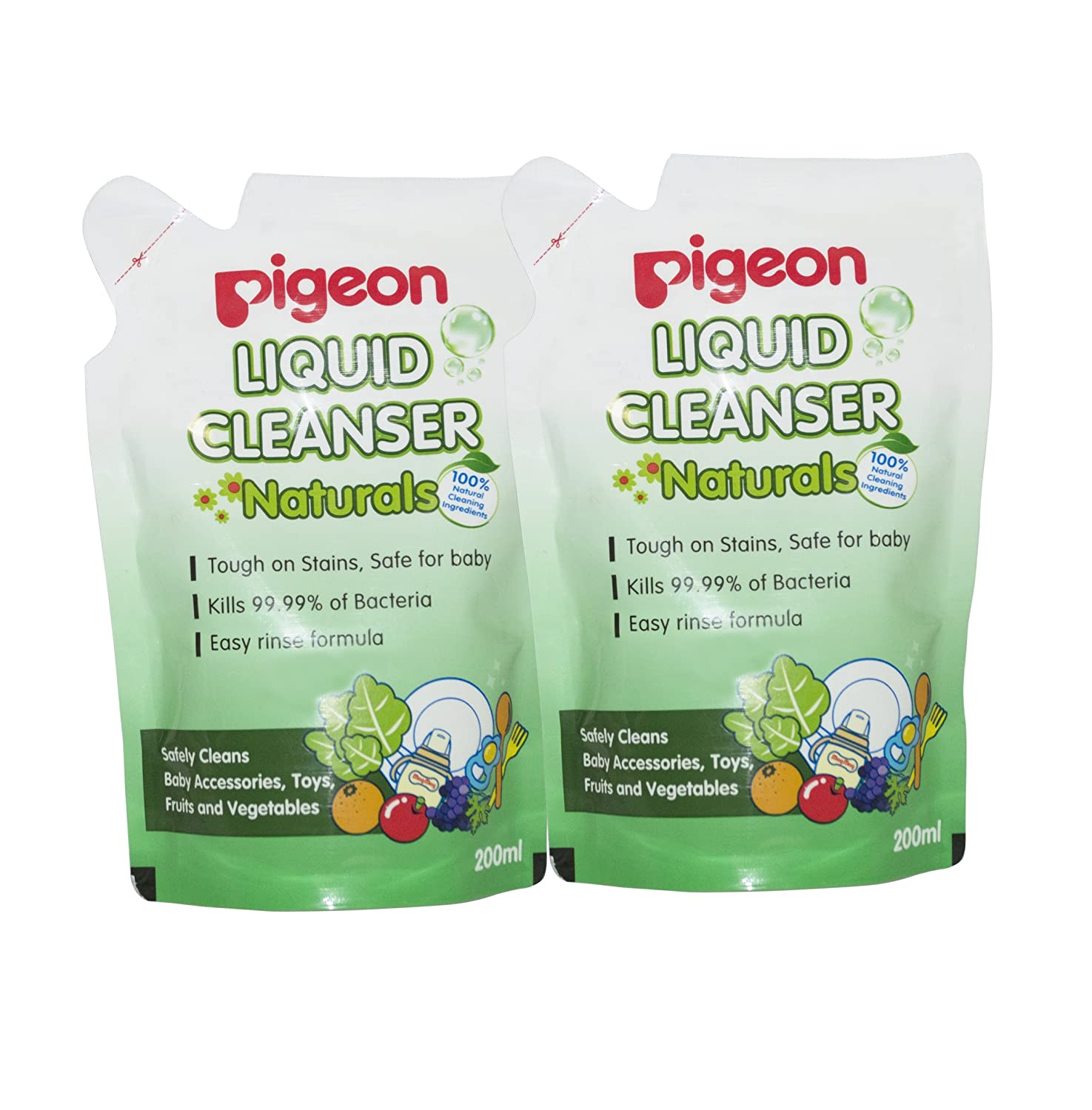 Buy Pigeon Naturals Liquid Cleanser Refill Combo 200ml Pack Of 2 Baby Wash 2in1 600ml Online At Low Prices In India