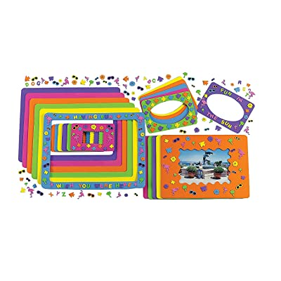 Foam Summer Fun Picture Frames Craft Kits (24 Photo Frames) Crafts for Kids and Fun Home Activities: Toys & Games