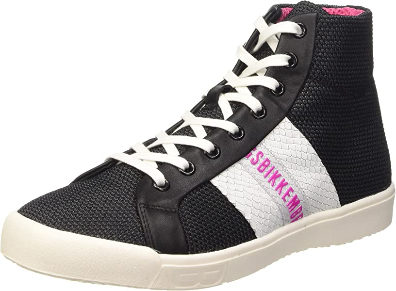 Bikkembergs Campus 121 M.Shoes W Fabric/Leather, Zapatillas Altas para Mujer
