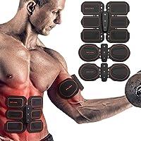 BALFER Abs Stimulator Muscle Trainer Electric Abdominal Muscle Toner Men Women Leg Arm EMS Muscle Stimulator Belt (Abs Toner)