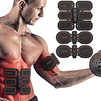 Muscle Training Gear Abs Fit Body Shaper Fat Burning Home Exercise Fitness Massager Stimulator Pad Fitness Gym Arm Sports Sticke Integrated Fitness Equipments Sports & Entertainment