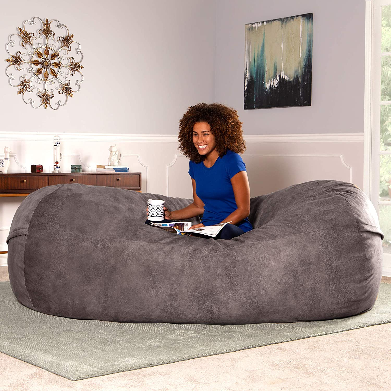 Jaxx 7 ft Giant Bean Bag Sofa Camel