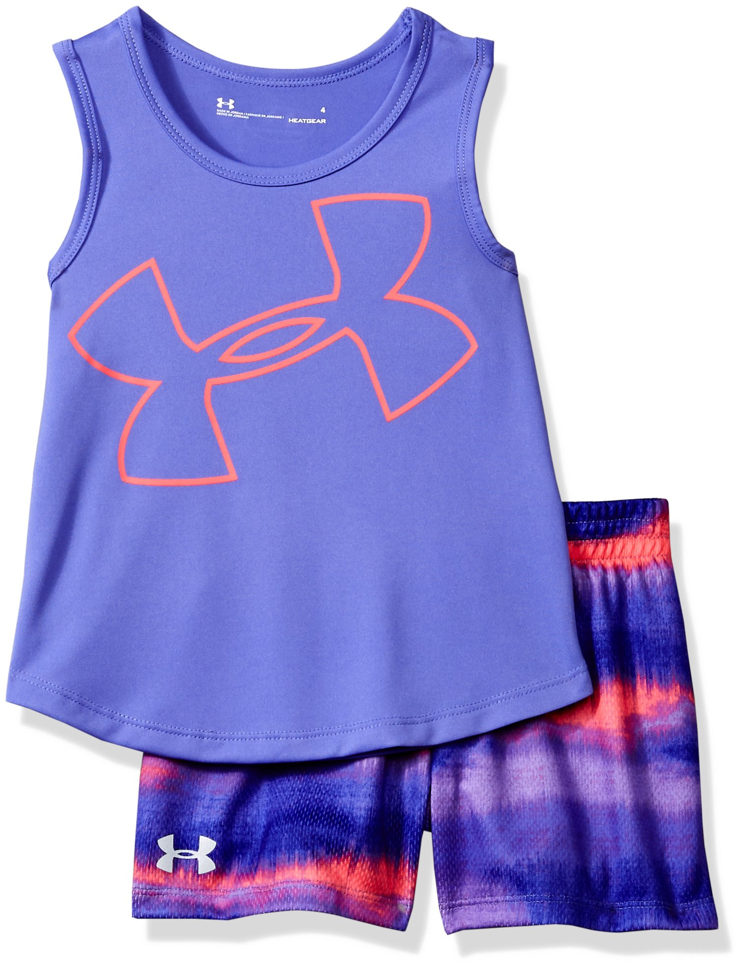 Under Armour Toddler Girls' UA Tank and Short Set, Violet Storm, 2T
