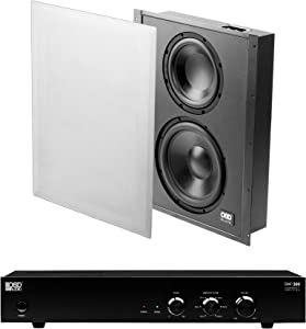 OSD Audio SMP300 Subwoofer Amplifier + SC800D in-Wall 300W Home Theater Subwoofer