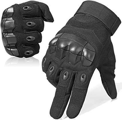 MOTORCYCLE BIKE BICYCLE CLYCING FULL FINGER LEATHER PROTECTIVE GLOVES