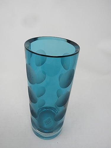 Lenox Kate Spade Bonita Street Large Vase, Turquoise, Full Lead Crystal