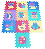TLCmat® Soft Foam Play Mat Puzzle Jigsaw With Animals and Pets Pop-Out