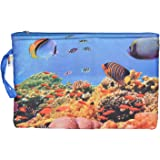 Bagaholics Multipurpose Clutch Printed Pencil Pouch Travel wallet Makeup Kit Toilet Handbag Organizer Medicine Bag Ladies Purse Birthday Gift, Return Gift for Kids,Woman