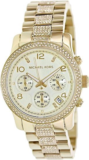 Reloj Michael Kors Runway Mk5826 Mujer Dorado: Michael Kors: Amazon.es: Relojes