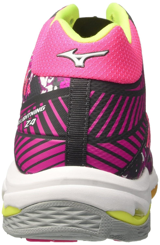 Mizuno Damen Damen Damen Wave Lightning Z4 Mid WOS Volleyballschuhe Rosa grau Weiß ae0bf5