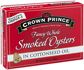 Crown Prince Smoked Oysters In Cottonseed Oil