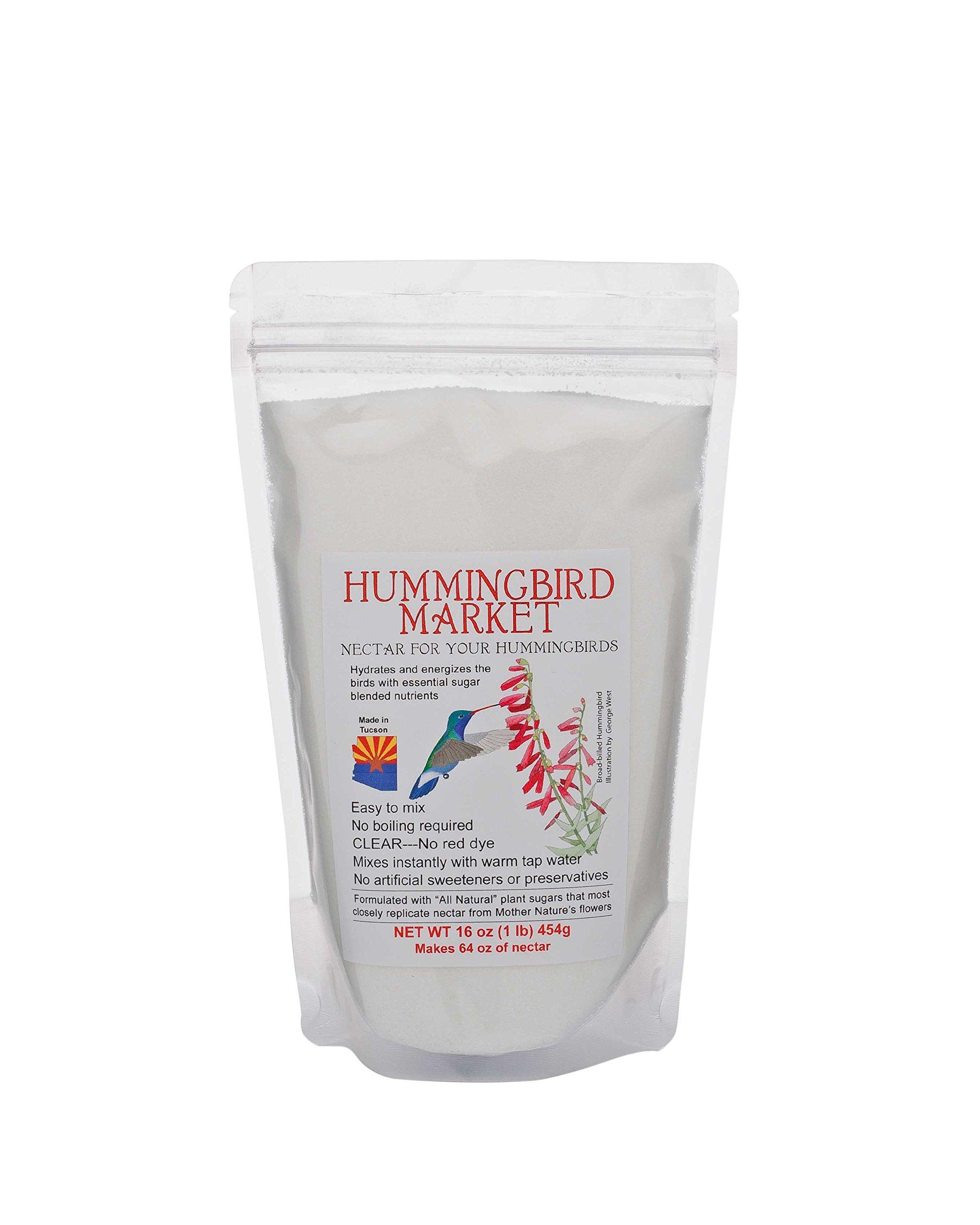 Hummingbird Nectar--- 1 lb/ 16 oz pouch makes 64 oz of nectar