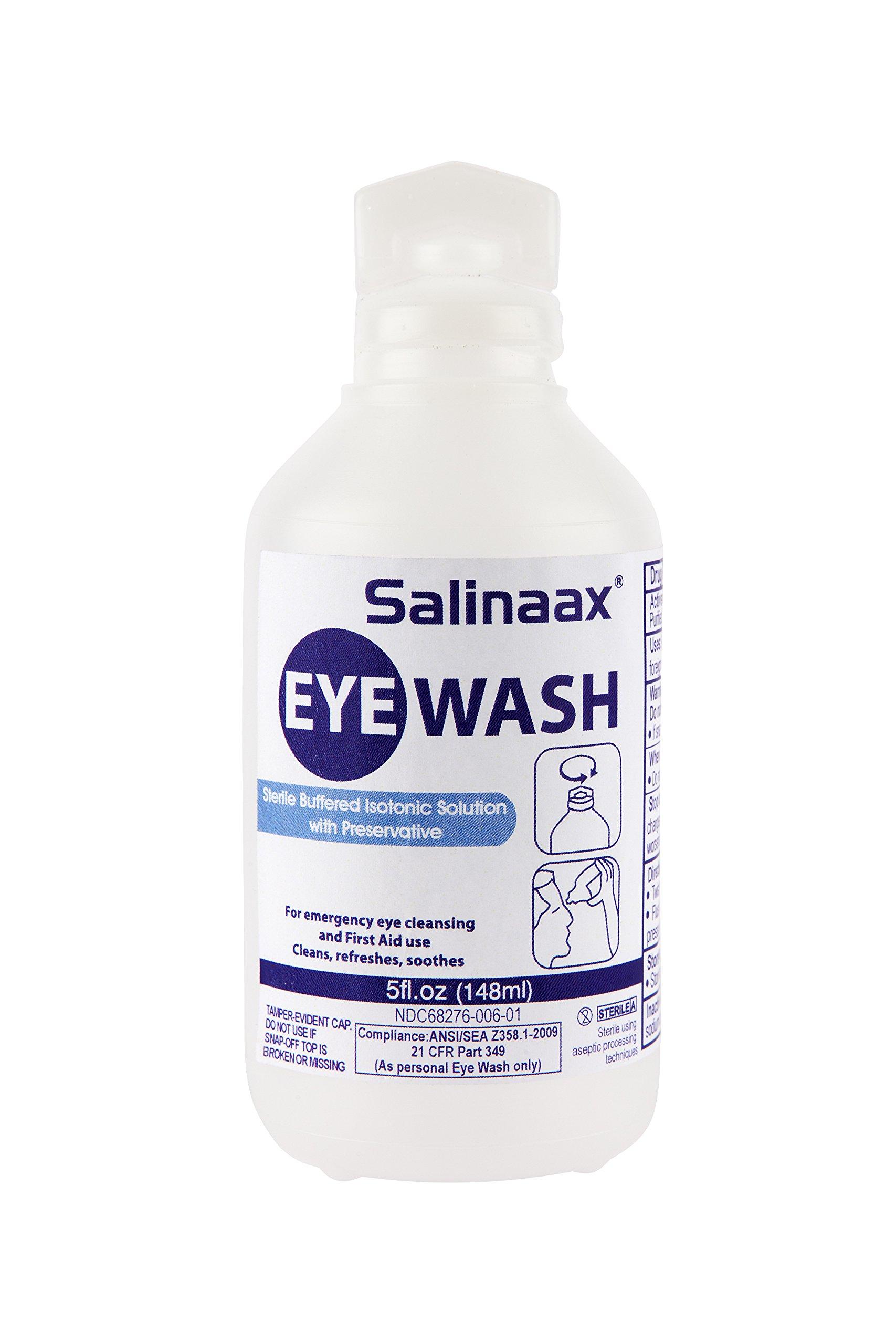 Salinaax Sterile Eyewash Solutions (5-ounce)