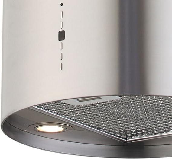 40 cm cilindro de acero inoxidable isla campana jsi 4170 – 40-ix: Amazon.es: Grandes electrodomésticos