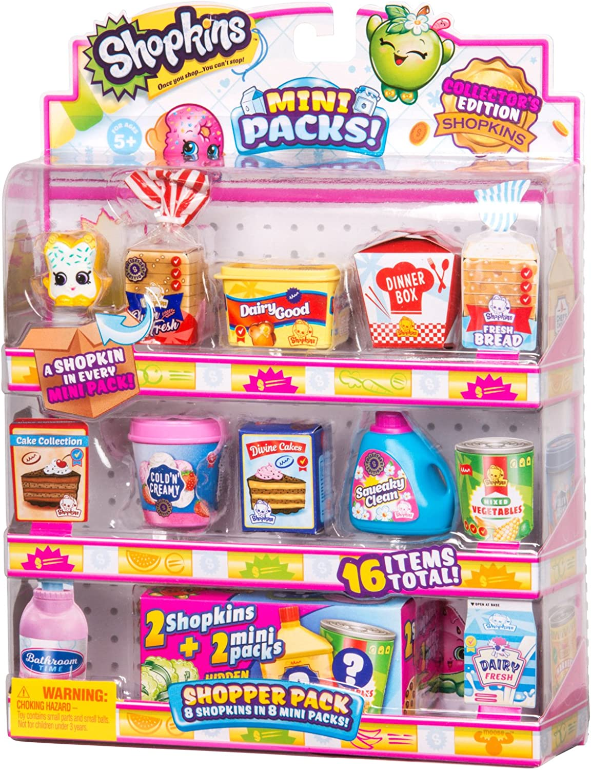 Shopkins FAMILY SHOPPER MINI PACK 16 Piece Series 11 Collectible Toy Figures