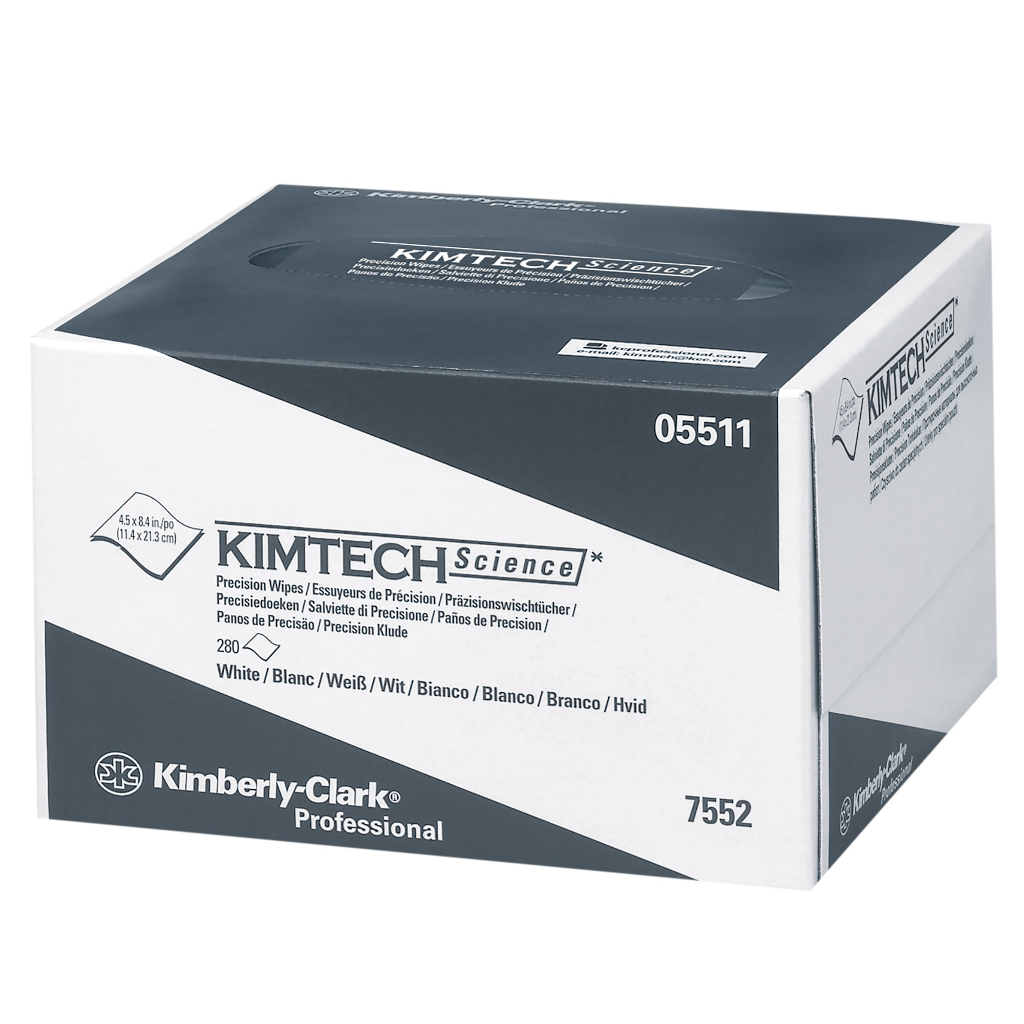 KIMTECH 05511 Science White Precision Wipes Tissue Wipers in a Pop-Up Box (60 Boxes per Case)