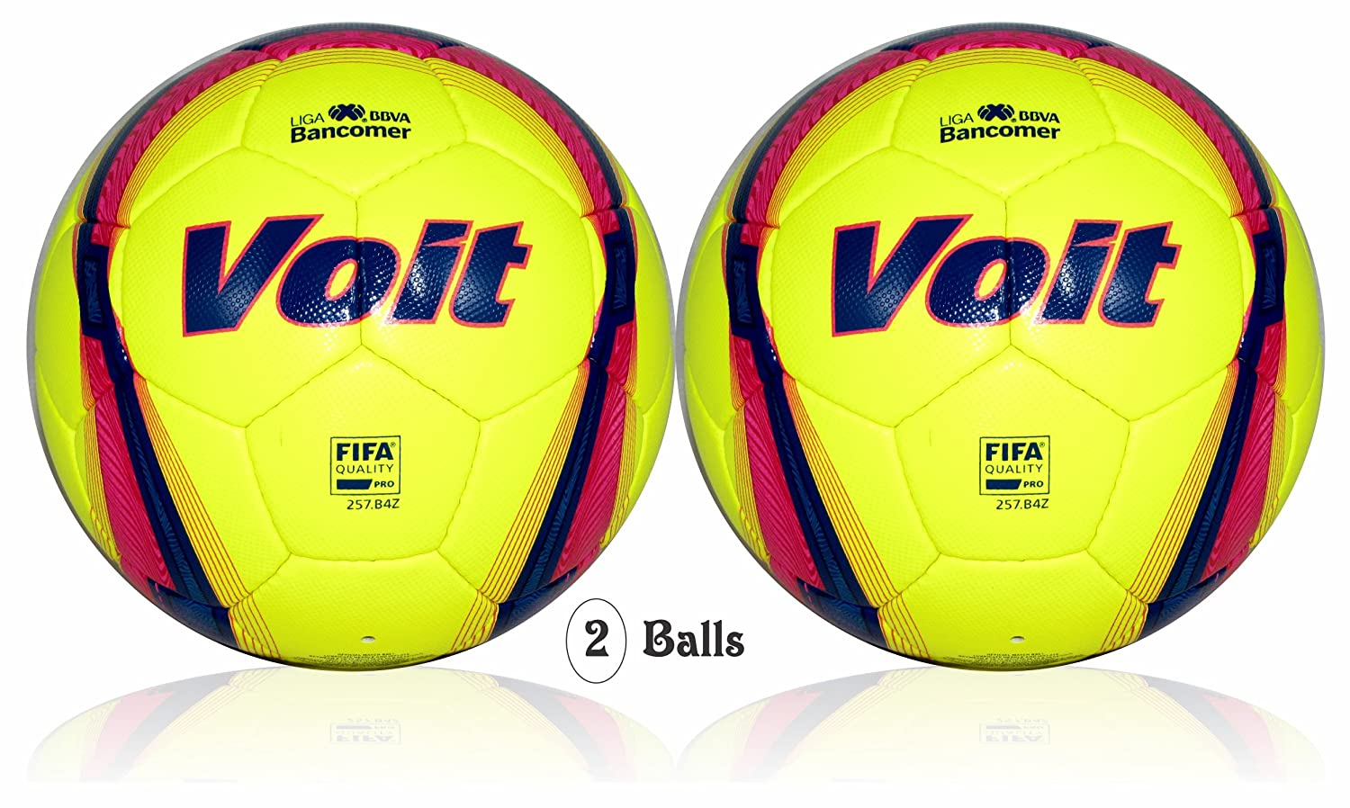 Voit Liga BBVA Bancomer ( MX ) Official Match Ball ( 2 Ballsサイズ5 ) FIFA品質Pro B07BJYQQB2