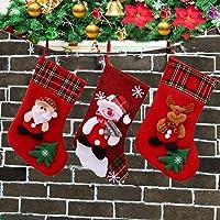 siphly Medias de Navidad Grande Calcetines de Navidad