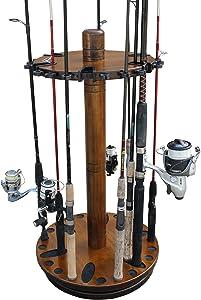 Rush Creek Creations Round Spinning 30 Fishing Rod Rack