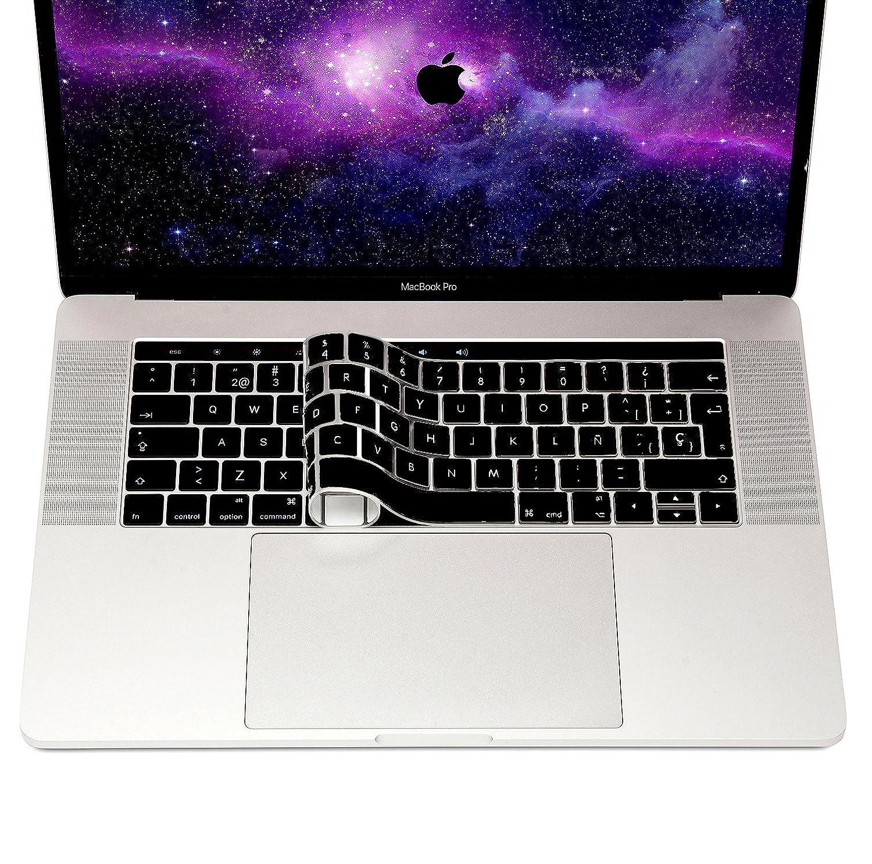 MyGadget Tastaturschutz QWERTY Spanien Silber Tastatur Schutz Silikon H/ülle Silikonschutz Folie f/ür Apple MacBook Air 13 /& Pro Retina 13//15