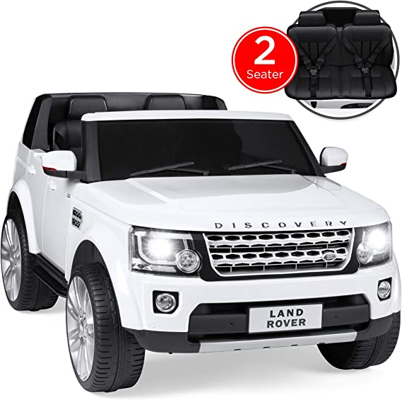 Best Choice Products 12V 3.7 MPH 2-Seater Licensed Land Rover Ride On w/ Parent Remote Control