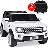 Best Choice Products 12V 3.7 MPH 2-Seater Licensed Land Rover Ride On w/ Parent Remote Control, MP3 Player - White