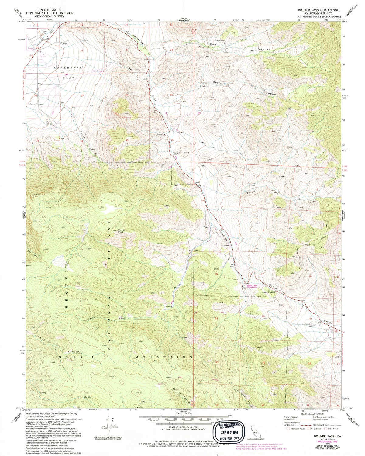 Amazon Com Yellowmaps Walker Pass Ca Topo Map 1 24000 Scale 7 5
