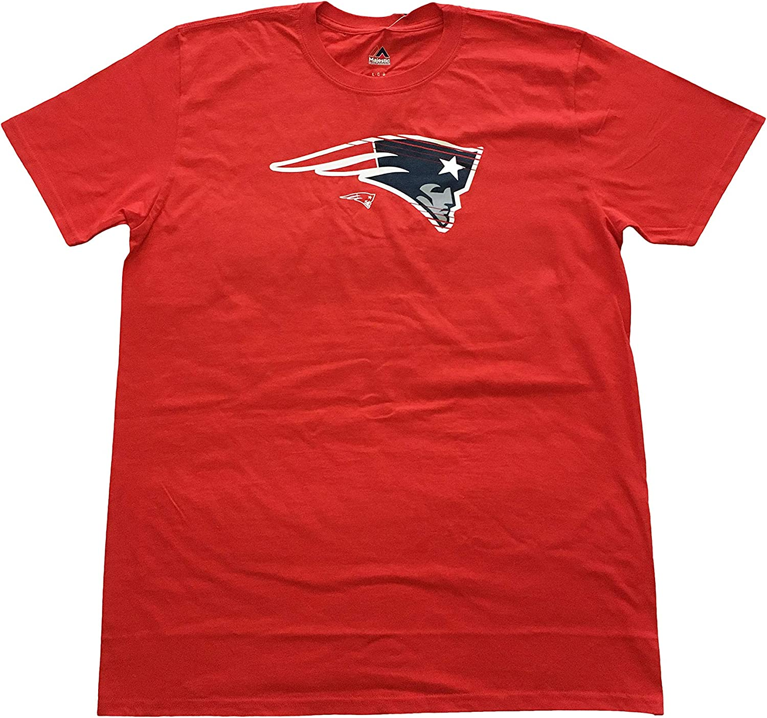 Majestic Mens T-Shirts NFL New England Patriots Crew Neck On to The Win T-Shirt