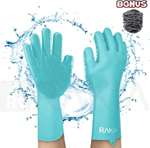 Rakia Magic Silicone Dishwashing Gloves with Built in Sponge Giveaway