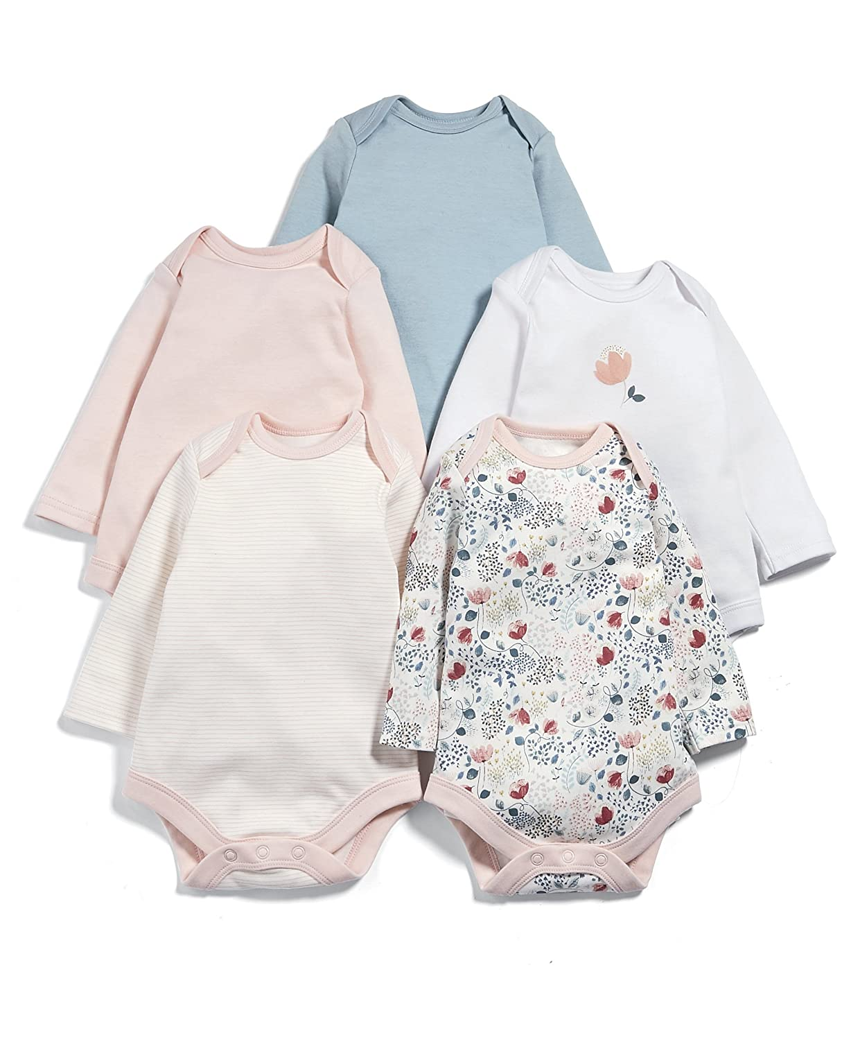 Mamas & Papas Baby-Mädchen Formender Body, 5er Pack Mamas and Papas