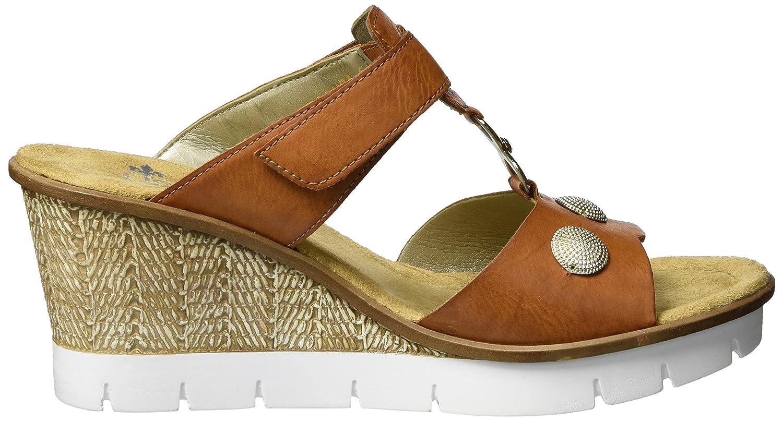 Rieker Damen 65592 Wedge Sandal , Braun (Cayenne 24), 41