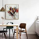 Raybre Art 50x60cm 100% Peinte à la Main Peintures à l'huile sur Toile Sans cadre - Tableaux Modernes Abstraites Graffiti Ligne Art pour Murales Décoration Salle Chambre Cuisine